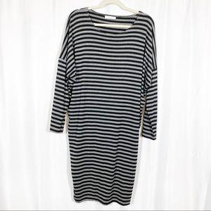 Bryn Walker Lagenlook Striped Dolman Knit Dress